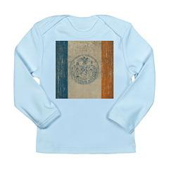 Vintage New York Flag Long Sleeve Infant T-Shirt