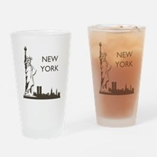 Retro New York Drinking Glass