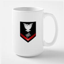 Navy PO3 Electronics Technician Large Mug