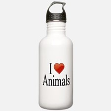 I Love Animals Water Bottle