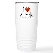 I Love Animals Travel Mug