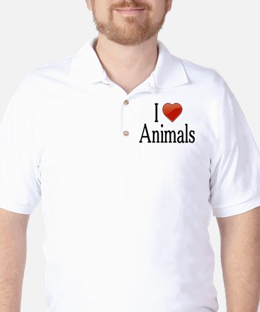 I Love Animals Golf Shirt