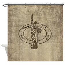 Vintage New York Shower Curtain