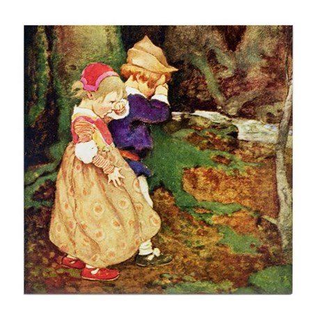 Babes In The Wood Tile Coaster