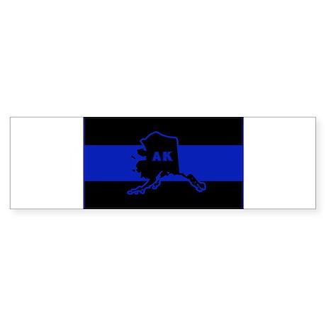 Thin Blue Line - Alaska Sticker (Bumper)