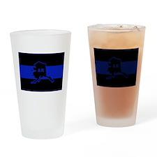 Thin Blue Line - Alaska Drinking Glass
