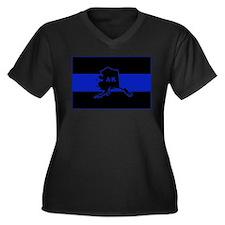 Thin Blue Line - Alaska Women's Plus Size V-Neck D