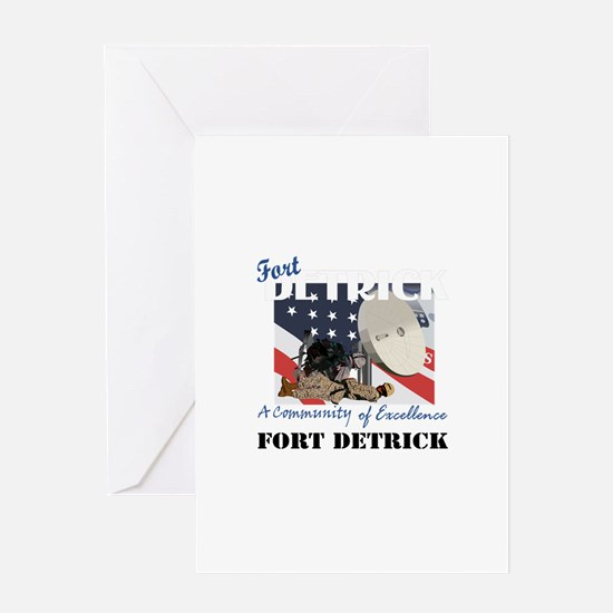 Fort Detrick with Text Greeting Card