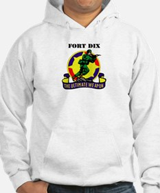 Fort Dix with Text Hoodie