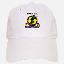 Fort Dix with Text Baseball Baseball Cap