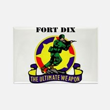 Fort Dix with Text Rectangle Magnet