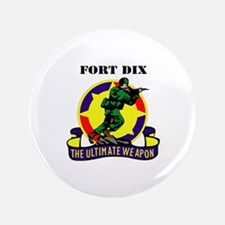 "Fort Dix with Text 3.5"" Button"