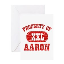 Property Of Aaron Greeting Card