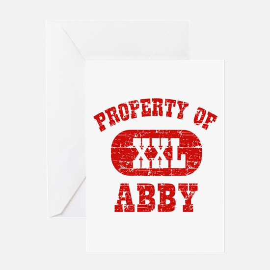 Property Of Abby Greeting Card