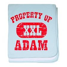 Property Of Adam baby blanket