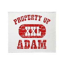 Property Of Adam Throw Blanket