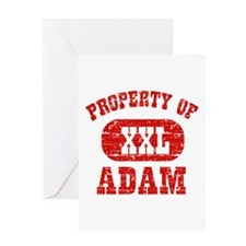 Property Of Adam Greeting Card