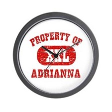 Property Of Adrianna Wall Clock