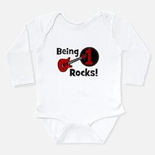 Unique 1st b day Long Sleeve Infant Bodysuit