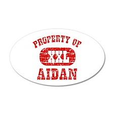 Property Of Aidan Wall Decal