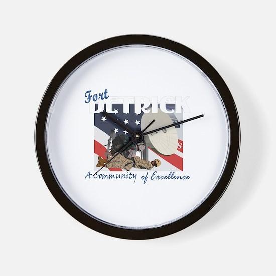 Fort Detrick Wall Clock