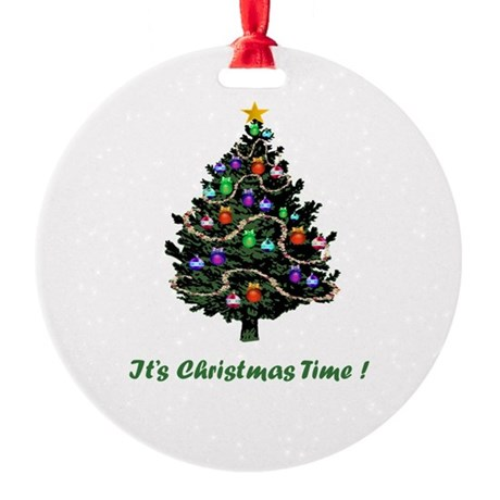 Christmas Tree Round Ornament
