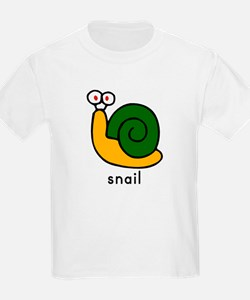 Snail Flashcard Tee