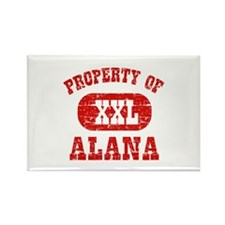 Property Of Alana Rectangle Magnet