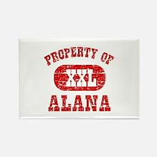 Property Of Alana Rectangle Magnet