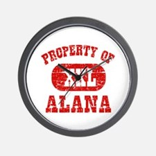 Property Of Alana Wall Clock