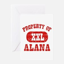 Property Of Alana Greeting Card