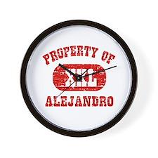 Property Of Alejandro Wall Clock