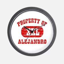 Property Of Alejandro Wall Clock