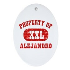 Property Of Alejandro Ornament (Oval)