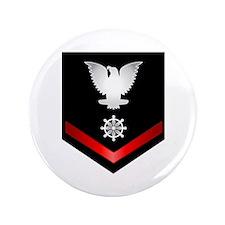 "Navy PO3 Quartermaster 3.5"" Button"