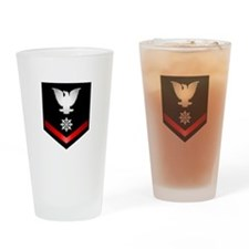 Navy PO3 Quartermaster Drinking Glass