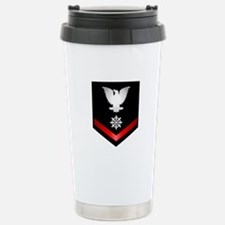 Navy PO3 Quartermaster Travel Mug