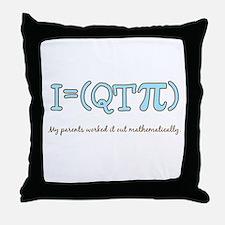 QT pi baby boy Throw Pillow
