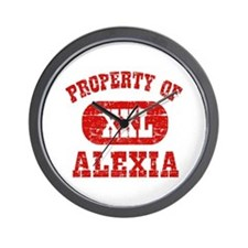 Property Of Alexia Wall Clock
