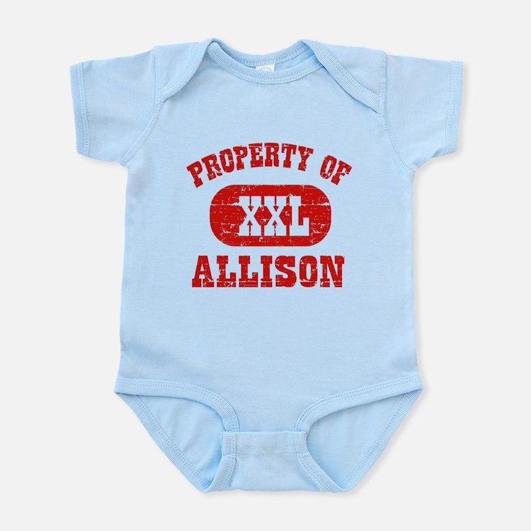 Property Of Allison Infant Bodysuit