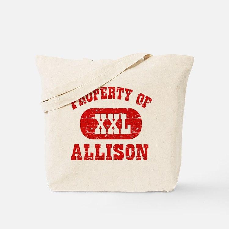 Property Of Allison Tote Bag