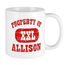 Property Of Allison Small Small Mug