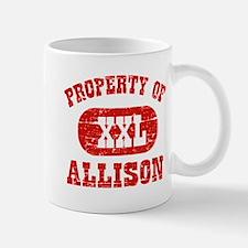 Property Of Allison Small Small Mug