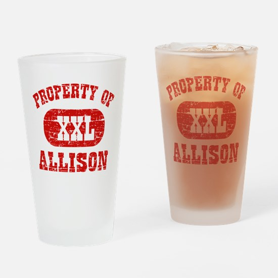 Property Of Allison Drinking Glass