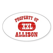 Property Of Allison Decal