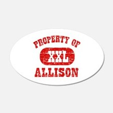 Property Of Allison Wall Decal
