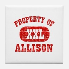 Property Of Allison Tile Coaster