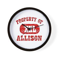 Property Of Allison Wall Clock