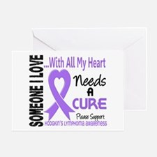Needs a Cure 3 H Lymphoma Greeting Card