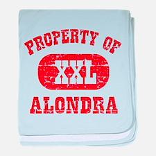 Property Of Alondra baby blanket